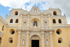 Antigua, Guatemala: La Merced Church, built in 1767, following g. Uatemaltecan baroque style. Antigua was the former colonial capital of Guatemala, and was royalty free stock photos