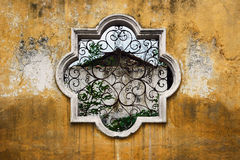 Antigua Guatemala Window. To a House in ruins royalty free stock images