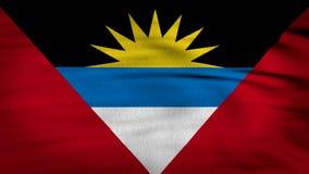 Antigua i Barbuda falowania flaga zbiory wideo