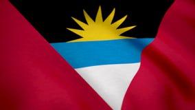 Antigua i Barbuda flaga falowanie Flaga Antigua tło zdjęcia stock