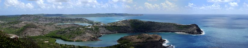Antigua Island. The picturesque panoramic view of Antigua island (Antigua & Barbuda royalty free stock photos