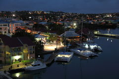 Antigua Island, Caribbean. Twilight view at St. John ,Antigua Island Royalty Free Stock Photos