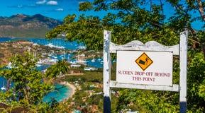 Antigua jachtu klub od Above obrazy stock