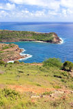 Antigua landscape 4. View overlooking the tropical island of Antigua Stock Photos