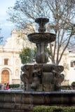 Antigua. Parque Central in Antigua, Guatemala stock photography