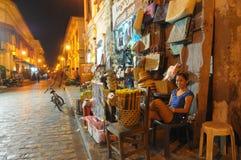 Antigua in Philippines. Calle crisologo in Antigua in Philippines Stock Image