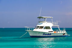 Antigua - Sandals Resort Dive and Fishing Boat Royalty Free Stock Image
