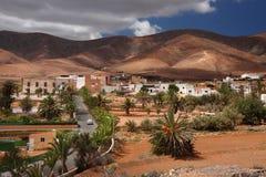 Antigua, small town inland. Beautifully located town Antigua on Fuerteventura Island, Canary Island, Spain royalty free stock image