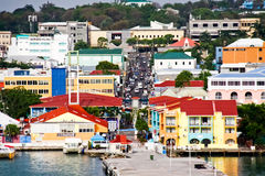 Antigua - St. Johns Busy Downtown Royalty Free Stock Images