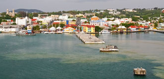 Antigua - St. Johns Harbor Stock Image