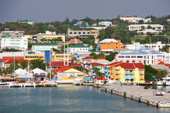 Antigua - St. Johns Waterfront Pier Royalty Free Stock Photography