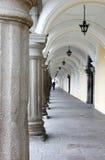 antigua stadsguatemala korridor Arkivfoto