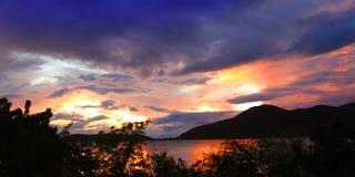 Antigua Sunset Landscape Stock Images