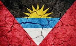 Antigua-und Barbuda-Markierungsfahne Stockbilder