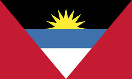 Antigua-und Barbuda-Markierungsfahne Alle verschiedenen Grafiken sind auf unterschiedlichen Schichten, also können sie leicht ver Lizenzfreie Stockfotos