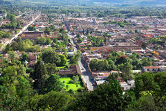 Antigua, viewed from Cerro de la Cruz, Guatemala, South America Stock Photography