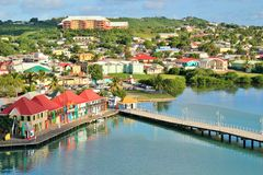 Antigua views stock photography