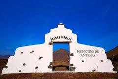 Antigua welcome monument sign Fuerteventura Stock Images