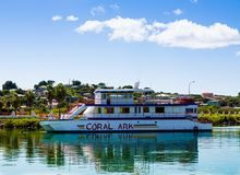Coral Ark in Antigua. ANTIGUA, WEST INDIES - December 7, 2016: The economy of Antigua is almost entirely based on tourism. It is a major cruise destination royalty free stock photography