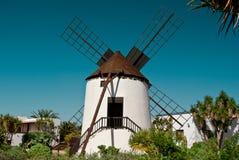 Antigua windmill, Canary Islands. Old windmill in Antigua, Fuerteventura, Spain Stock Photo