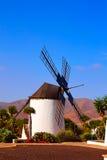 Antigua Windmill Fuerteventura at Canary Islands Stock Photo