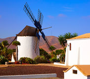 Antigua Windmill Fuerteventura at Canary Islands Stock Image