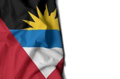 antigua wrinkled flag, space for text Royalty Free Stock Images