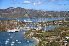 Antigua Yacht Club from Above Royalty Free Stock Images
