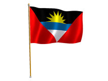 AntiguaandBarbuda Seidemarkierungsfahne vektor abbildung