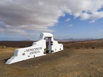Antigual border gate. Typical border constructions of the municipalties of Fuerteventura stock photos