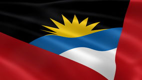 Antiguan and Barbudan flag in the wind stock footage
