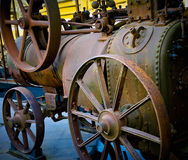 Antigue farm equipment. Close-up of ancient farm equipment Royalty Free Stock Photos