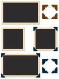 Antigue Photo Edges. Square and rectangle photo edges with photo corners Royalty Free Stock Photo