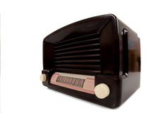 Antigue Radio. A vintage antique radio on a white background with copy space Stock Images