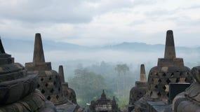 A antiguidade de Borobudur Fotos de Stock