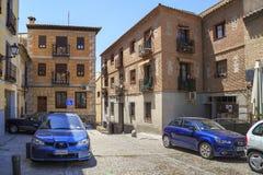 A antiguidade e modernidade em Toledo medieval imagem de stock