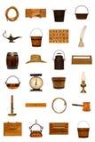 A antiguidade objeta a coleção foto de stock