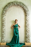 A antiguidade. Retrato da menina bonita atrativa. Fotos de Stock Royalty Free