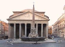 Antiguidade Roman Monument do panteão de Itália Roma Foto de Stock Royalty Free