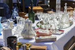 Antiguidades na venda em agradável, França Foto de Stock