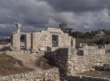 Antiguity tempel i Khersonesen, Crimea fotografering för bildbyråer