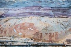 Antiguo prehistórico pintado a mano Fotografía de archivo