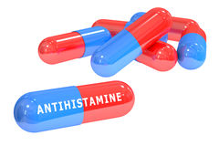 Antihistamine pills 3D rendering. On white background Stock Image