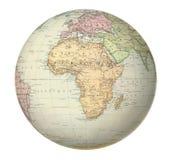 Antik översikt av Afrika. Royaltyfria Bilder