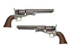 Antik amerikansk revolver för Coltmarinslagverk Royaltyfri Bild