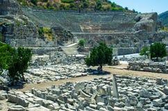 Antik amfiteater av Ephesus, Turkiet Arkivfoton