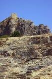 Antik amfiteater och medeltida befästningar Arkivfoton