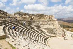 Antik amfitheater i Segesta Fotografering för Bildbyråer