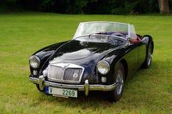 Antik bil MG Fotografering för Bildbyråer