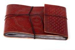 antik bok inbundet läder Arkivfoton
